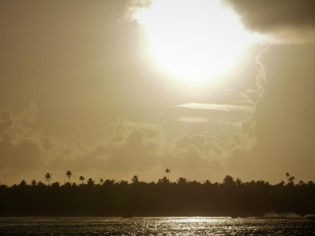 Sunset at Tuamotus
